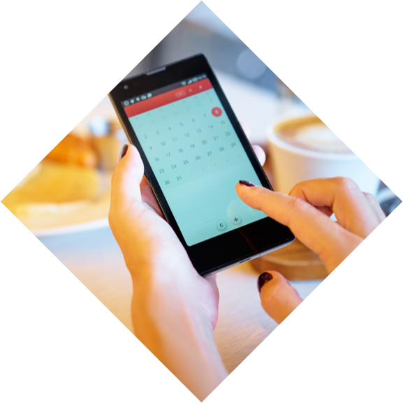Making a online booking for a tour on a mobile device