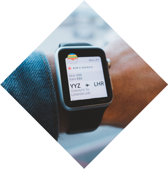 Checking online booking system dashboard from a iWatch