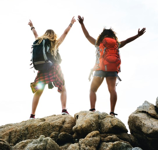 Online booking software being used to book hiking tours