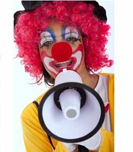 online booking software services for booking a clown for childrens entertainment